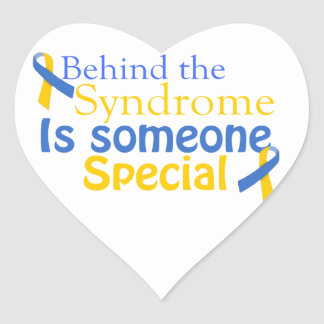 Behind the Syndrome is someone Special Heart Sticker