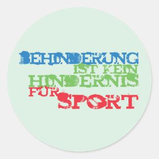 Behinderung ist kein Hindernis für Sport Classic Round Sticker