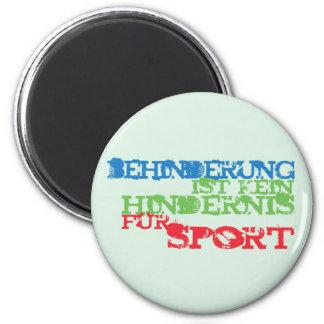 Behinderung ist kein Hindernis für Sport Magnet