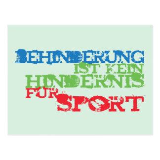 Behinderung ist kein Hindernis für Sport Postcard