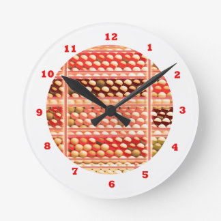 BEHIVE Bees:  Dot Painted Art Round Wall Clock