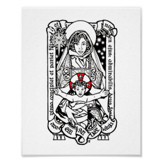 Behold, a Virgin Shall Conceive - Madonna and Chil Poster