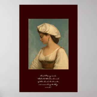 Behold al handmaid del señor póster