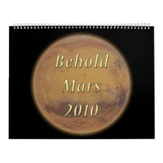 Behold el calendario de Marte 2010