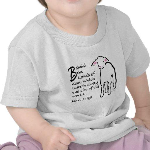 Behold el cordero de dios camisetas