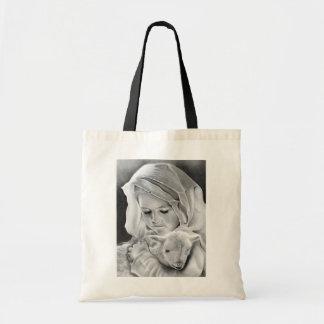 Behold el cordero del bolso de dios bolsas lienzo