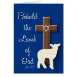 Behold el cordero… Passover Tarjeta De Felicitación