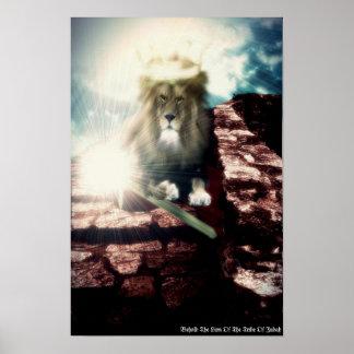 Behold el león de la tribu del poster de Judah