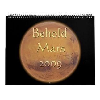 Behold Mars 2009 Huge Calendar