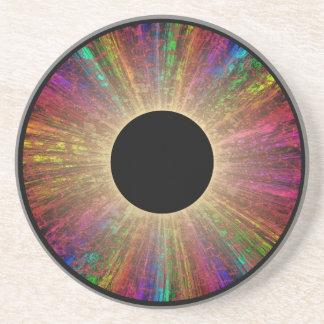 Behold the Alien Eye Pattern Sandstone Coaster