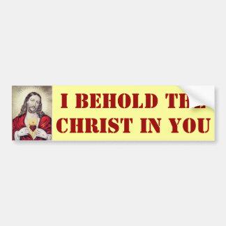 Behold the Christ bumper sticker