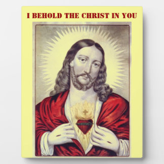 Behold the Christ plaque