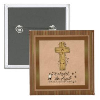 Behold the Lamb Christian Church Button