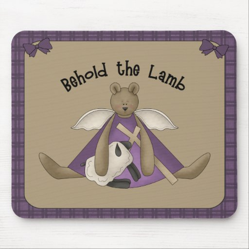 Behold the Lamb Christian Mousepad