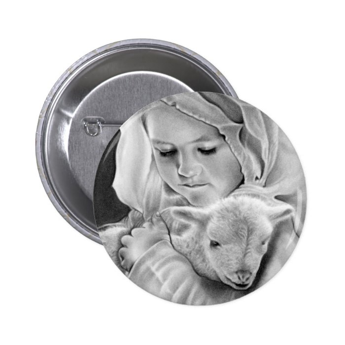 Behold the Lamb Of God  Button