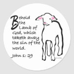 Behold the Lamb of God Stickers