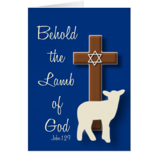 Behold the Lamb... Passover Card