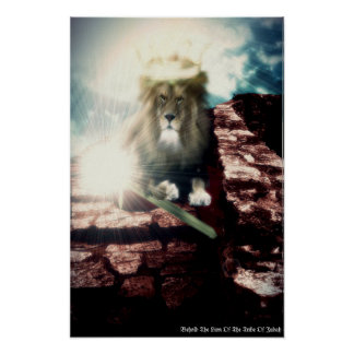 Behold The Lion Of The Tribe Of Judah Poster