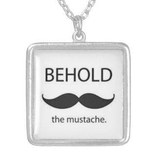 behold the mustache custom jewelry