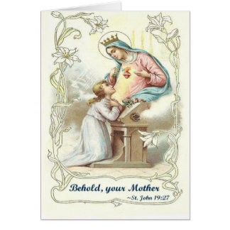 'Behold Your Mother' Blessed Virgin Mary Items Card