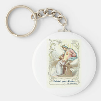 'Behold Your Mother' Blessed Virgin Mary Items Keychain