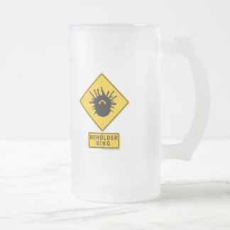 Beholder XING 16 Oz Frosted Glass Beer Mug
