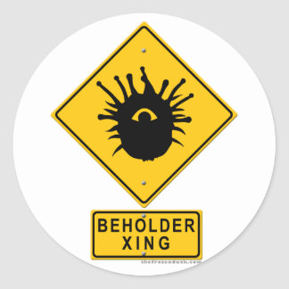 Beholder XING Classic Round Sticker