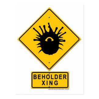 Beholder XING Postcard