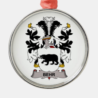 Behr Family Crest Christmas Ornaments