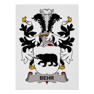 Behr Family Crest Poster