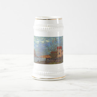 Bei Moret 1881Oil de Alfred Sisley - de Der Loing Jarra De Cerveza