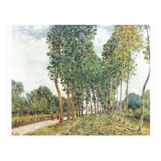Bei Moret 1892 de Loing del der de Alfred Sisley - Tarjetas Postales
