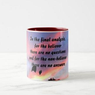 BEIEVER NON BELIEVER mug