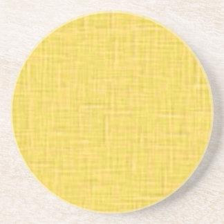 beige001-yellow YELLOW WHITE CLOTH TEXTURES DIGITA Coaster