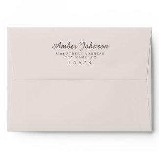 Beige 5 x 7 Pre-Addressed Envelopes