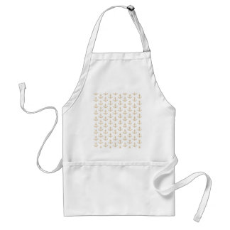 Beige Anchor Pattern Nautical Sailor Adult Apron