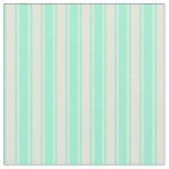 [ Thumbnail: Beige and Aquamarine Colored Pattern of Stripes Fabric ]