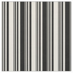 [ Thumbnail: Beige and Black Colored Lines Fabric ]