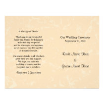 Beige and Black with Subtle Pattern Wedding Flyer