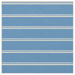 [ Thumbnail: Beige and Blue Colored Lines/Stripes Pattern Fabric ]