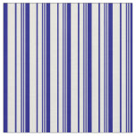 [ Thumbnail: Beige and Blue Colored Striped/Lined Pattern Fabric ]