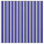 [ Thumbnail: Beige and Blue Lines Pattern Fabric ]