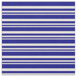 [ Thumbnail: Beige and Blue Striped/Lined Pattern Fabric ]