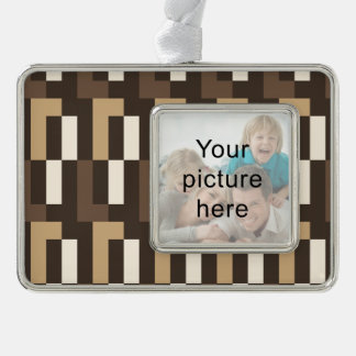 Beige and brown art deco ornament