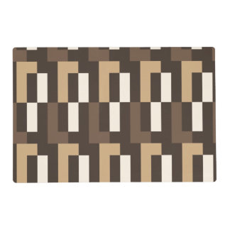 Beige and brown art deco placemat