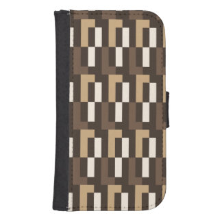 Beige and brown art deco wallet phone case for samsung galaxy s4