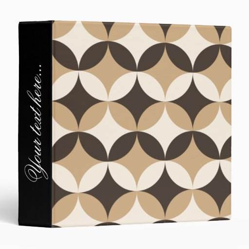 Beige and brown circles 3 ring binder