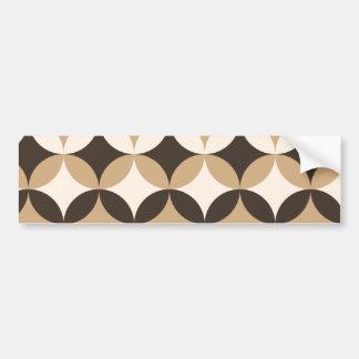 Beige and brown circles bumper sticker