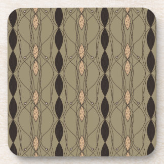 Beige and Brown Cool Retro Coaster