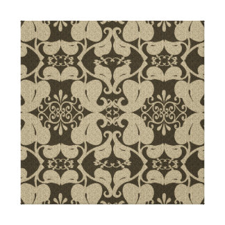 Beige And Brown Leaves Modern Canvas Wall Art